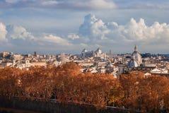 Rome autumn panorama royalty free stock photography