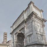 Rome båge av Titus Square Composition Royaltyfri Bild