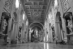 Rome -  basilica of Lateran basilica of st. John Stock Photos