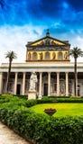 Rome, Basilica Papale, San Paolo Fuori di Mura Stock Images