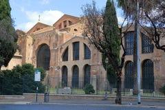 Rome. Basilica of Santa Maria degli Angeli e dei Martiri Stock Images