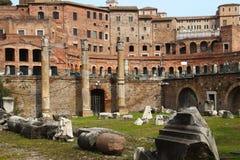 Rome, Basilica Ulpia Stock Images