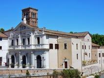 Rome - basilika av St Bartholomew på ön royaltyfria bilder