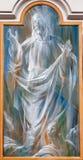 Rome - Beklimming van Jesus. Detail van moderne fresko van van degliangelussen e van basilieksanta maria dei Martiri stock afbeelding