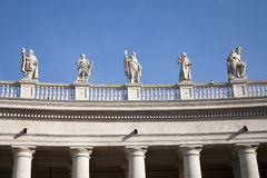 Rome - Bernini colonnade - detail Stock Photos