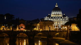 Rome bij nacht stock videobeelden