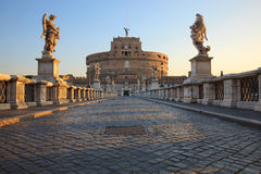 Rome, bridge Castel SantAngelo Royalty Free Stock Photo