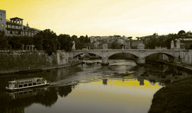 Rome - Bridge On The River Royalty Free Stock Photos