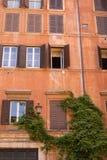 Rome building facade, Italy. Typical roman building facade, Italy Royalty Free Stock Photos