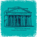 Rome building hand drawn vector illustration Stock Photo