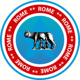 Rome button or seal Royalty Free Stock Photo