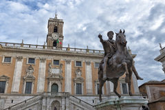 Rome campidoglio place Stock Photography