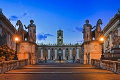 Rome Capitoline Entr löneförhöjning Arkivfoto