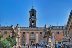 Rome Capitoline löneförhöjning, Italien Royaltyfri Fotografi