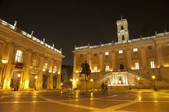 Rome - Capitolino - Campidoglio. At night Stock Photo