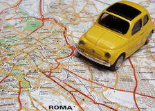Rome by Car. What about a travel in Rome with a nice car royalty free stock image