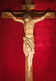 Rome - The carved Crucifixion from 17th century in church Chiesa del Jesu by unknown artist. Royalty Free Stock Images