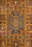 Rome - Carved renaissance ceiling of church Santa Maria Aracoeli Royalty Free Stock Image