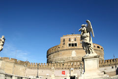 Rome Castel ant'Angelo. Monuments history religion Christianity tourism travel architectural masterpieces historic buildings castles fortresses stock photos