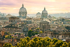 Rome from Castel Sant'Angelo, Italy. Stock Photo