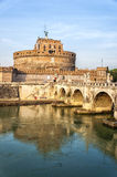 Rome Castel Sant Angelo by the tiber Stock Image