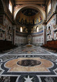 Rome cathedral. Rome, Italy - famous Papal Archbasilica of St. John Lateran, officially the cathedral of Rome. Baroque interior royalty free stock photo