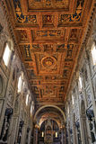 Rome cathedral. Rome, Italy - famous Papal Archbasilica of St. John Lateran, officially the cathedral of Rome. Baroque interior royalty free stock image