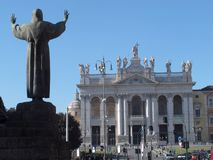 Rome The basilica of San Giovanni royalty free stock photos