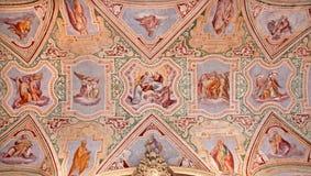 Rome - The ceiling fresco of vestibule in Basilica di San Giovanni in Laterano Royalty Free Stock Photos