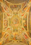 Rome - The ceiling fresoc by G. B. Ricci (1585) in church Chiesa di San Agostino and chapel of st. Nicholas of Tolentino. Stock Photography