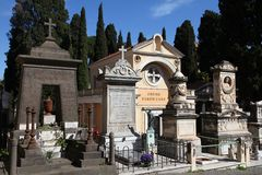 Rome cemetery Royalty Free Stock Photo