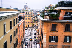 Rome center under snow Stock Images