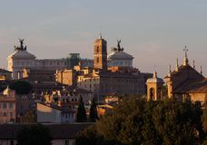 Rome central view Royalty Free Stock Photos