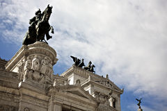 Rome in the centre. Piazza Venezia detail of the city of Rome, Italy Royalty Free Stock Images