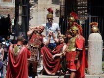 Rome - Centurions het stellen royalty-vrije stock foto's