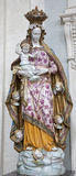 Rome  - ceramic statue of Virgin mary Royalty Free Stock Photography