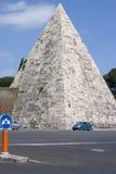 Rome - the Cestia Pyramid 2. The Cestia Pyramid in Roma Stock Images