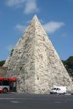 Rome - the Cestia Pyramid. The Cestia Pyramid in Rome Stock Photo