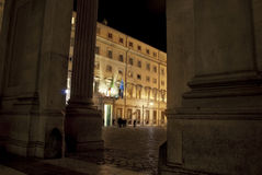 Rome. Chigi palace  government's seat Royalty Free Stock Photography