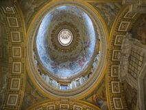 Rome church, Basilica famous decoration ceiling royalty free stock photography