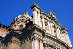 Rome Church of saints Luke and Martina baroque Stock Image