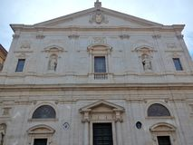 Rome - Church of San Luigi dei Francesi. Rome, Lazio, Italy - May 15, 2017: Church of San Luigi dei Francesi seen from the same square Royalty Free Stock Image