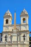 Rome church Trinita dei Monti Royalty Free Stock Image