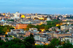 Rome city at evening Stock Image