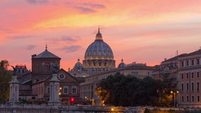 Rome city famous sunset sky vatican basilica rooftop river bridge panorama 4k time lapse italy. Italy rome city famous sunset sky vatican basilica rooftop river stock video