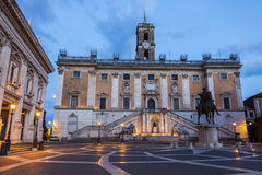Rome City Hall at night. Rome, Lazio, Italy Stock Images