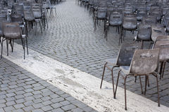 Rome. City landscape. places of Interest. Attractions. Chairs on the square in front of St. Peter and Paul in Rome Royalty Free Stock Image