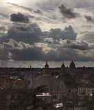 Rome. City landscape. places of Interest. Attractions. View of Rome historic center, Italy Royalty Free Stock Images