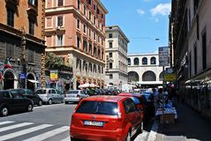 Rome city life. View of Rome city on June 1, 2014 Stock Photos