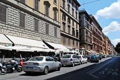 Rome city life. View of Rome city on June 1, 2014 Stock Image